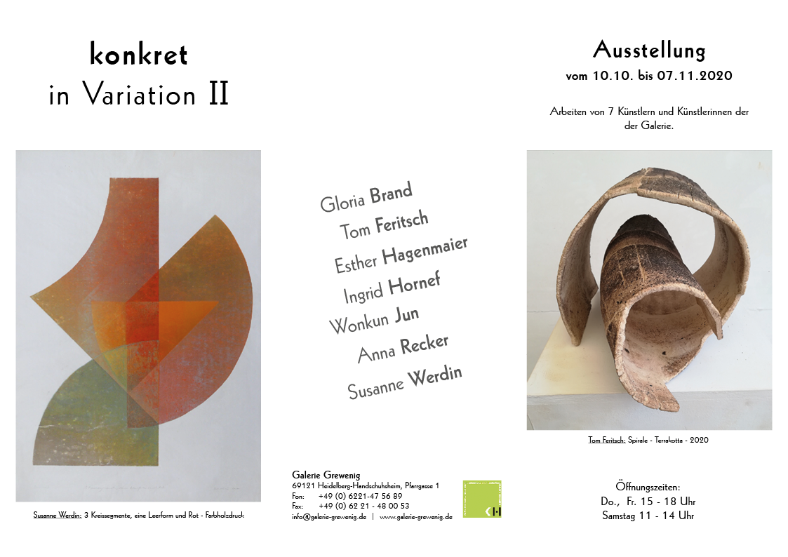Plakat konkret in Variation 1